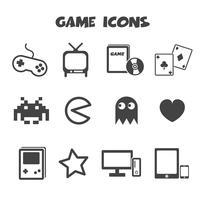 symbole d'icônes de jeu