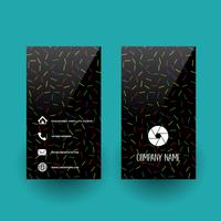 Business card with abstract pattern design