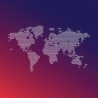 Creative minimal world map art vector