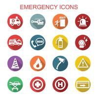 emergency long shadow icons
