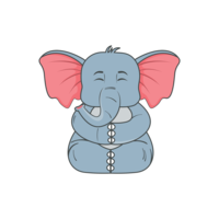 Illustration d'éléphant png vectorielle minime