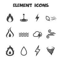 símbolo de los iconos de elementos vector