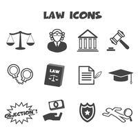 símbolo de los iconos de la ley