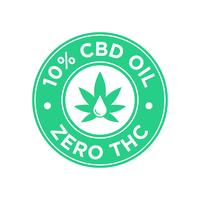 10 procent CBD Oil icon. Noll THC.