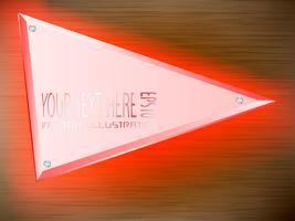 Acrylic label LED light decoration on label.