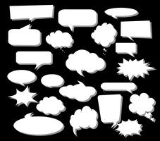 Design elements for speech, message, social network. Vector Illustration and graphic elements.