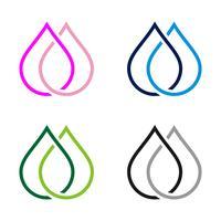 Unendlichkeits-Linie Tropfen-Wasser Logo Template Illustration Design. Vektor EPS 10.