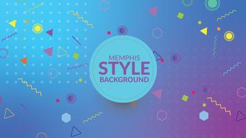 Fond dégradé de style Memphis