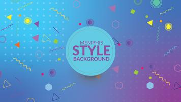 Memphis style gradient background