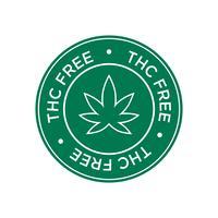 Ícone grátis de THC. Símbolo verde e redondo.