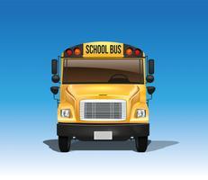 Autobús escolar americano en vector