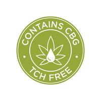 Contains CBG. THC Free icon. vector