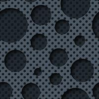 Two layer metal sheets with dark seamless background. vector