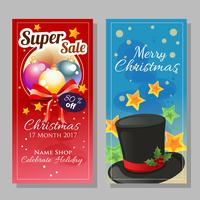 vertical banner in christmas theme