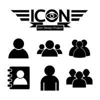 Gens icône symbole signe