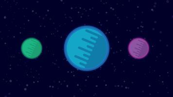 Planeet abstracte achtergrond