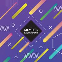 Memphis colorful background vector