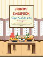 Chuseok banner design background.