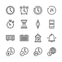 Time and clock icon set.Vector illustration