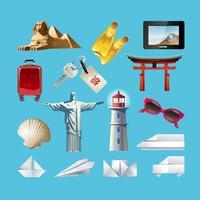 Set di icone relative al viaggio