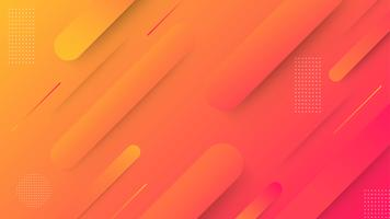 Abstract gradient geometric background. Simple shapes with trendy gradients