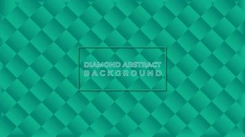 Green diamond abstract background vector