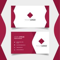 Beautiful red color business card