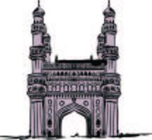 Vetor de Char Minar