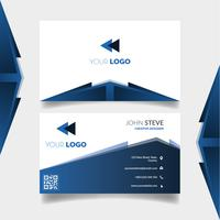 Bluish business card template
