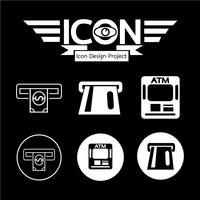 Sinal de símbolo de ícone de ATM