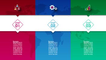 Colorful bars with business icon infographics.