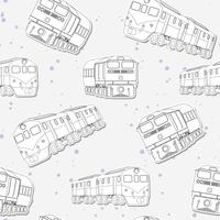 Seamless train outline pattern.