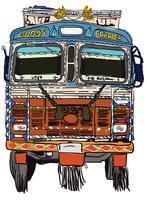 Indisk lastbil Framvektor