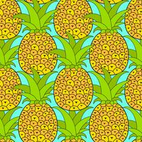 Pineapples seamless pattern. Tropical background. Vector illustration.Ready For Your Design, Greeting Card