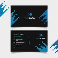 Black corporate card template