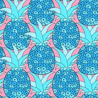 Nahtloses Muster der Ananas. Tropischer Hintergrund. Vektor-illustration.Ready For Your Design, Grußkarte