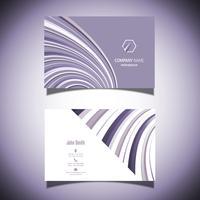 Cartão de visita com um design listrado roxo