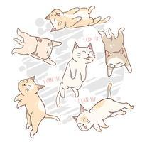 katt söt vektor