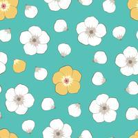 Flower element on seamless background.