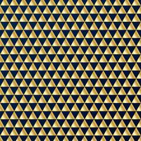 Geometric gold triangles luxury seamless pattern on dark blue background. Gold and blue colors design elements for elegant festive projects and awards.