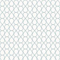 Abstract seamless geometric blue lines pattern ornament stylish background. Grid with curly cells stripe tile texture mesh of drops. vector