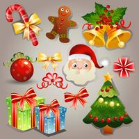 christmas element set vector