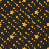 Star Seamless Pattern, Hand Drawn Sketched Doodle Stars, Vector Illustration