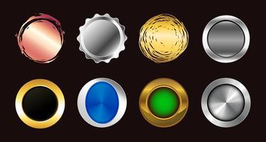 ensemble de boutons colorés. icônes vectorielles collection de symboles.