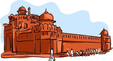 Red Fort Vector