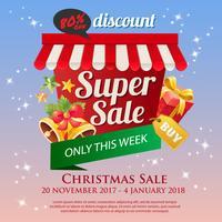 Kerst verkoop poster