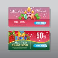 christmas web banner with present gift