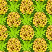 Modèle sans couture d'ananas. Fond tropical. Illustration vectorielle