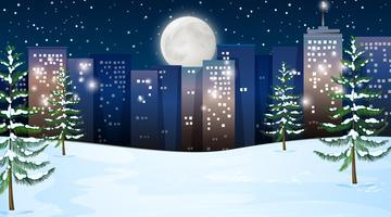 An outdoor winter scene