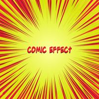 red and yellow comic zoom effect vector